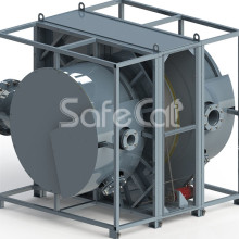 Rotary concentrator of catalytic treatment plant SC