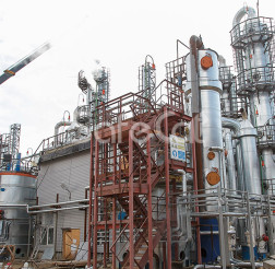 Waste gases catalytic treatment process line