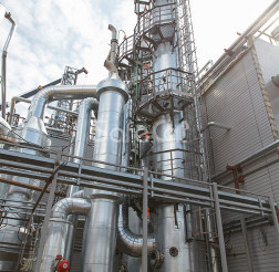 Industrial waste gases treatment line