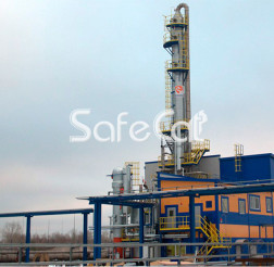 Process emissions purification for chemical plant