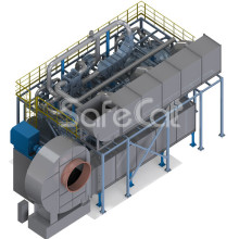 Catalytic treatment plant SC