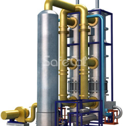 Off-gas catalytic purification and methanol distillation unit. Version