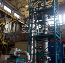 Gas emissions oxidation unit, control assembly at the production site