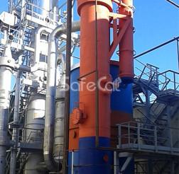 Flue gas catalytic afterburner