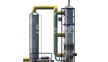 Industrial emissions treatment system