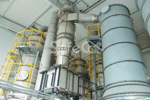 Industrial gas cleaning system