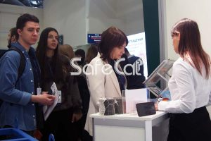 Visitors of Safe Technologies stand at VUZPROMEXPO